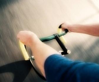 Pierde peso en la bicicleta estática